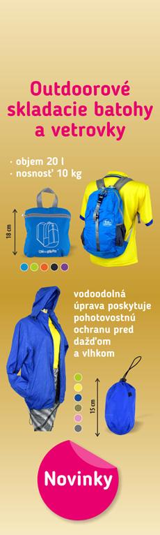 outdoorové batohy a vetrovky